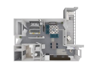 Mission Lofts Apartments Aspire Work and Live 3D Floor Plan