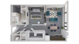 Mission Lofts Apartments Desire 3D Live Floor Plan