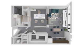 Mission Lofts Apartments Desire 3D Work Floor Plan