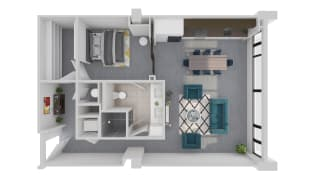 Mission Lofts Apartments Idea 3D Live Floor Plan
