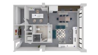 Mission Lofts Apartments Idea 3D Work Floor Plan