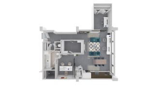 Mission Lofts Apartments Objective 3D Work and Live Floor Plan