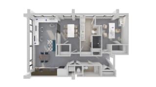 Mission Lofts Apartments Target 3D Work Floor Plan
