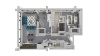 Mission Lofts Apartments Target 3D Live and Work  Floor Plan
