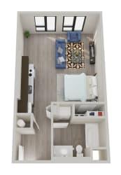 The Hixon Apartments S2 Floor Plan