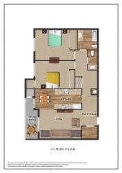 The Galleria Apartments 2 Bedroom Floor Plan
