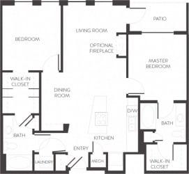 Wynkoop Laramer Arapahoe Denver, CO City House Apartments 2 bedroom 2 bath
