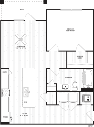 Sidney 1 Floor Plan at The Crest Apartments at Flowery Branch, Georgia
