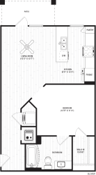 Oliver 2 Floor Plan at The Crest Apartments at Flowery Branch, Flowery Branch
