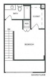 2nd Floor 1 Bed 1 Bath 787 square feet floor plan Loft 2