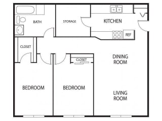 Hidden Valley Apartments in Savage, MN 2 Bedroom 1 Bathroom Apartment