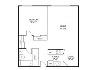 Minnehaha Manor Apartments in Oakdale, MN 1 Bedroom 1 Bathroom
