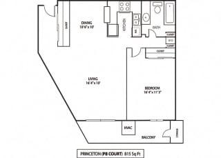 Floor Plan Princeton & Purdue