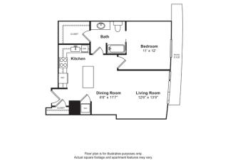 Floorplan at Cirrus, Seattle 98121