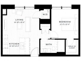 1E upgrade Floor plan at Custom House, St. Paul, 55101