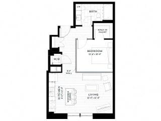 1H upgrade Floor plan at Custom House, St. Paul, Minnesota