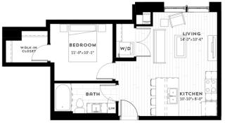 1A Floor plan at Custom House, Minnesota, 55101