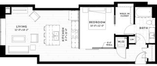 1N Floor plan at Custom House, Minnesota