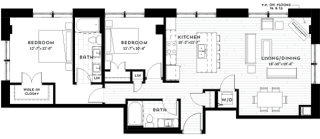 2J Floor plan Floor planat Custom House, St. Paul, Minnesota