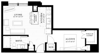 A4 Floor plan at Custom House, St. Paul, 55101