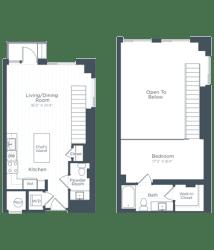 AL3 Floor Plan at Highgate at the Mile, McLean, VA, 22102