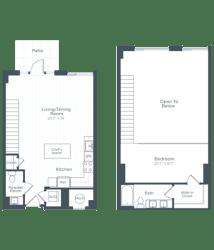 AL4 Floor Plan at Highgate at the Mile, McLean, VA