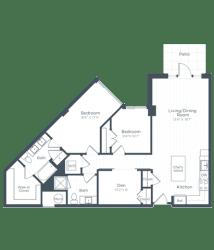 BD2 Floor Plan at Highgate at the Mile, McLean