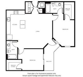 Floor Plan at Morningside Atlanta by Windsor, Atlanta, GA 30324