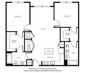 Floor Plan at Morningside Atlanta by Windsor, Atlanta, 30324