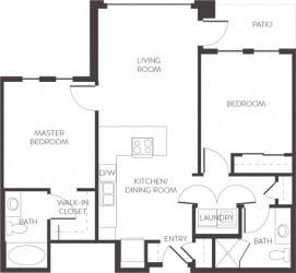 Arapahoe Denver, CO City House Apartments 2 bedroom 2 bath