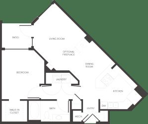 Denver, CO City House Apartments 1 bedroom 1 bath