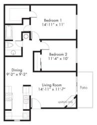Floor Plan at Aviare Place, Midland, 79705