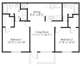 Floor Plan at Aviare Place, Midland, TX, 79705