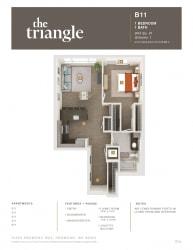 Triangle Redmond WA B11 1 Bedroom 854 SQ FT