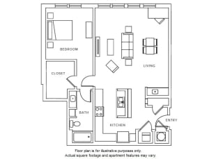 A11 floor plan at Windsor Parkview, Chamblee, Georgia