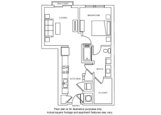 A2 Floor Plan at Windsor Parkview, 5070 Peachtree Boulevard, 30341