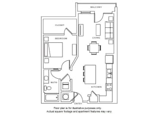 A4 floor plan at Windsor Parkview, Chamblee, GA