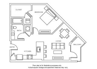 A6 floor plan at Windsor Parkview, GA, 30341