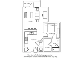 A8 floor plan at Windsor Parkview, GA, 30341