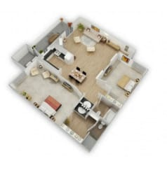 Country Lake Mead Floor Plan 2x15