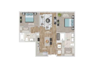 The Roxy Floor Plan at Delamarre at Celebration, Celebration, 34747