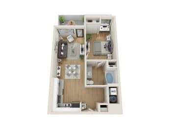 Cirrus Floor Plan at Sora, Inglewood, CA