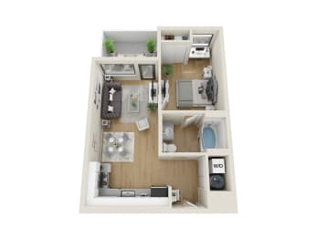 Omni Floor Plan at Sora, Inglewood, California