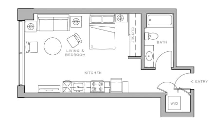 studio B  483 sf