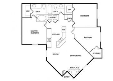 San Jose (B-2) floor plan.