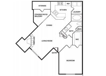 Santa Clara (A-1) floor plan.
