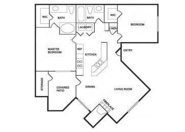Santa Cruz (B-1) floor plan.