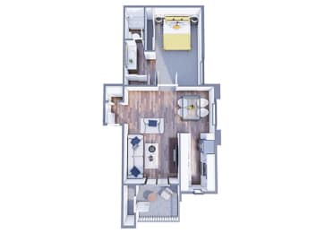Granada Floor Plan at The Vicinity, Arizona, 85016