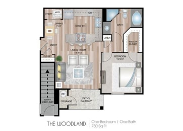 Woodland Floor Plan at Briargate on Main, Parker, CO, 80134