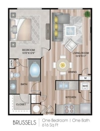 Brussels Floor Plan at Notting Hill, Georgia, 30346